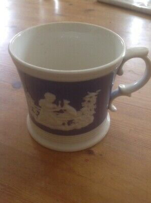 Victorian Salt Glazed Relief Moulded Mug