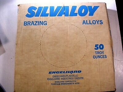 ENGELHARD SILVALOY ALLOY 45   50 TROY Oz  SIZE 1-16TH