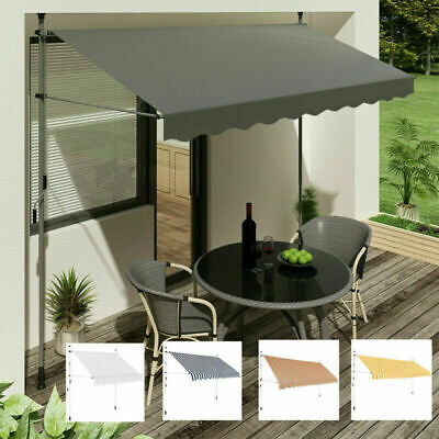 Outdoor Garden Patio Sun Shade Manual Retractable Awning Window Canopy Shelter