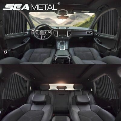Universal Car Side Window Sunshade Auto Curtains Sun Protection Magnetic