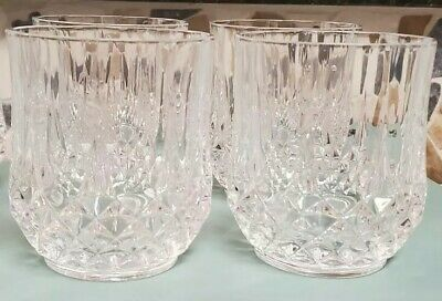 Set of 4 CRISTAL D'ARQUES LONGCHAMP Crystal Double Old Fashioned Rocks Glasses