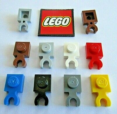 Tan 60897 93793 44860 NEUF 6x Plaque // Plate 1x1 with Clip Lego 4085 B