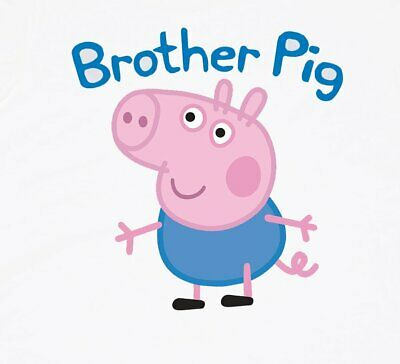 :::::::Peppa Pig:::brother Pig::::::::::::::::::: T-Shirt Iron On Transfer