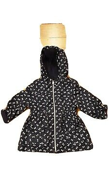 F & F  Girls Summer Navy Jacket Age 4-5. Polyester. Cotton lining.