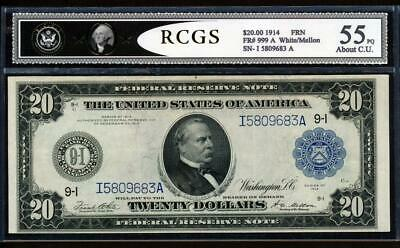Fr.999 1914 $20 MINNEAPOLIS FRN + CHOICE ABOUT NEW UNCIRCULATED VERY RARE