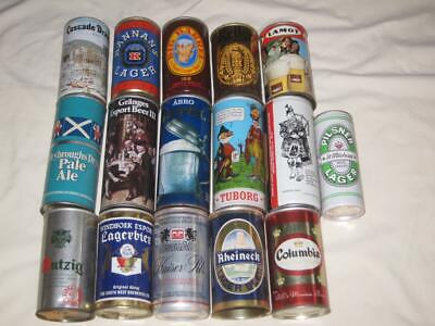 16 Vintage Foreign Beer Cans