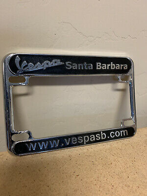 Vespa Santa Barbara California Chrome License Plate  150 250 300 GTS PX