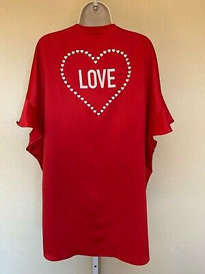 Womens Nwt Victorias Secret Red Short Robe W/Heart One Size Fits All