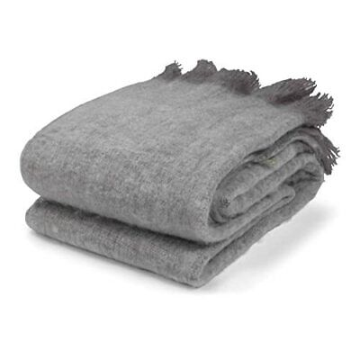 [zmj] Olandese Decor Rigga Throw, Misto Lana, Dark Grey, King