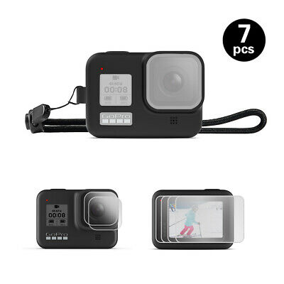 NEW Silicone Protective Case with Screen Protector for Gopro Hero 8 Black