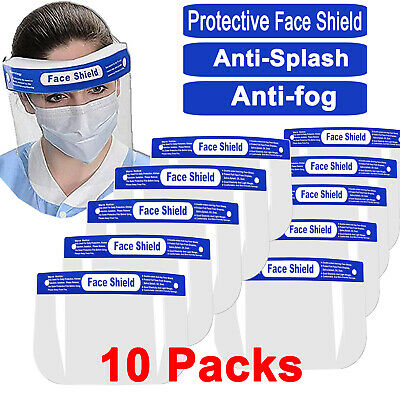 10XFull Face Covering Anti-fog Safety Shield Tool Mask Clear Glasses Eye HelmetK