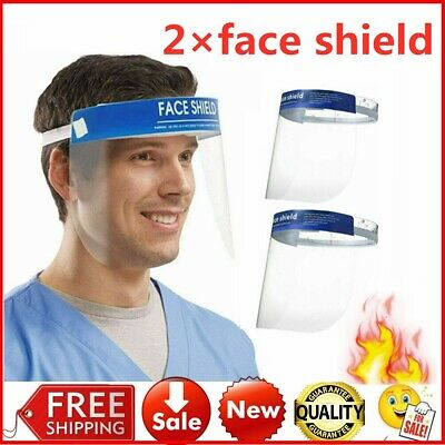 2 PCS Anti-fog Empty Cap Full Face Splash proof Face Protective shield Hat USA