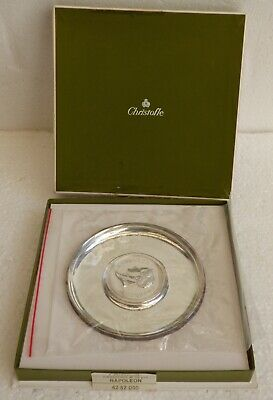 Wow NOS unused Christofle Napoleon ASH TRAY Cenicero Box OVP was 499 $ in Store