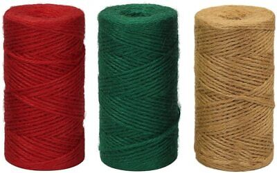 Natural Green Red  3 PLY  Brown Soft Jute Twine Sisal String Rustic Cord Hessian