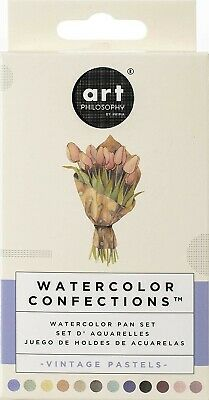 Prima Marketing, 636722 Prima Confections Watercolor, Pans 12/Pkg-Vintage Pastel