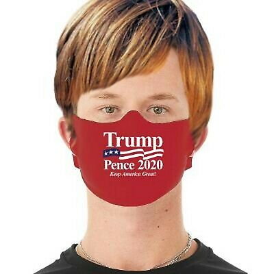 3 Pack Trump Face Mask Adult Washable Made in USA, Fabric Mask  washable