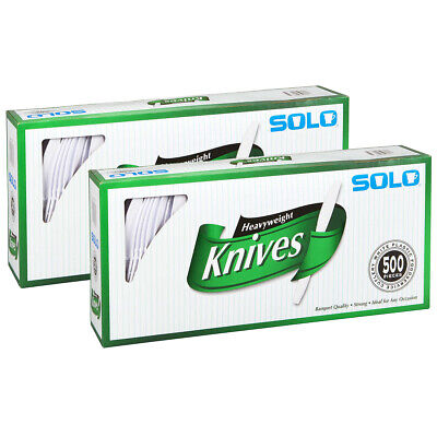 Solo Heavyweight Plastic Knife, White, 500 ct. | 2 PACK