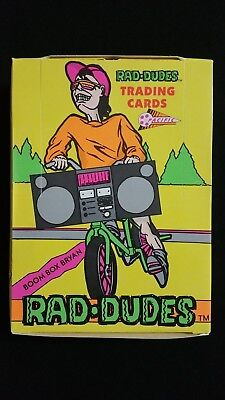 1990 Pacific Rad Dudes Wax Box 36 Packs
