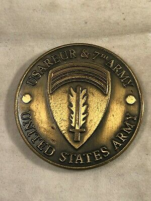 US Army Challenge Coin USAREUR & 7th Army 1982's CINC's Best