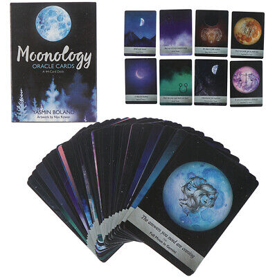 44 Card Moonology Oracle Cards Deck Guidebook Boland Magic Tarot Deck GameM0HGG