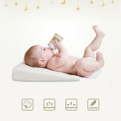 Newborn Anti-Spit Milk Wedge Pillow Memory Foam Pillow Infant Reflux Sleeping