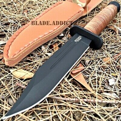 """8.5"""" Tactical Combat Survival Fixed Blade Hunting Bowie Dagger Knife w/ Sheath"""