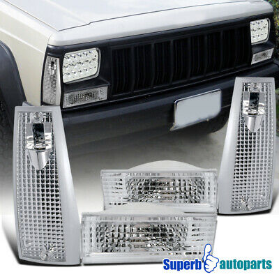 For 1984-1996 Jeep Cherokee Corner Signal Lights + Bumper Parking Lamps