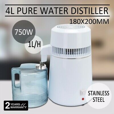 Water Distiller 4L Dental Medical Filter Purifier Distilled Water 1L/h