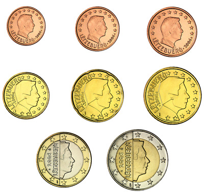 °°°New°°° Lussemburgo Luxembourg  1 Cent - 2 Euro 2002 - 2019 (Bb - Fdc ) Circ.