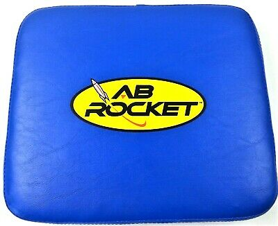 Ab Rocket Replacement Seat + Screws ONLY Exercise Fitness Core Cushion Blue