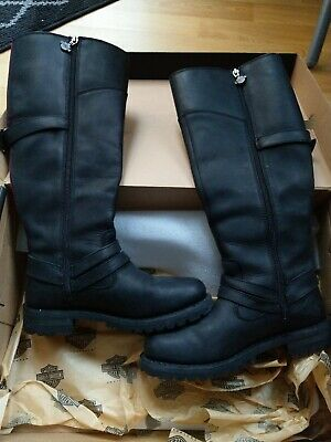 Harley Davidson Ladies Lomita 15.25 inch Leather Boots Black D84325