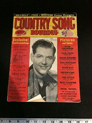 Vintage Country Song Roundup #20, Hank Thompson, Slim Whitman, more