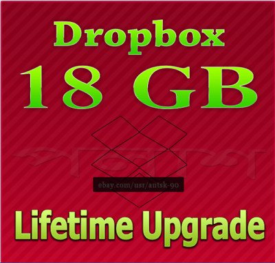 Dropbox 18GB Lifetime Upgrade ☆ Permanent Space ☆ Friends Referral Service
