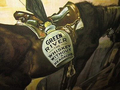 GREEN RIVER Whiskey - KENTUCKY KY - GIANT SIZE SIGN - Dated 1899 - Must Be Wrong