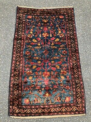 "Antique  Lilihan  Oriental  Rug         2' 9"" X 4' 6"""