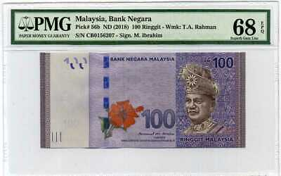 MALAYSIA 100 RINGGIT P56 B 2018 New Sign SULTAN MOSQUE UNC MONEY BILL BANK NOTE