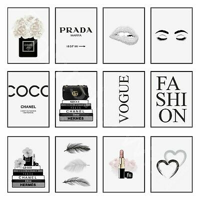 Coco Quote Fashion Art Print Picture Vogue Fashion Poster Wall Art A4 A3 A5