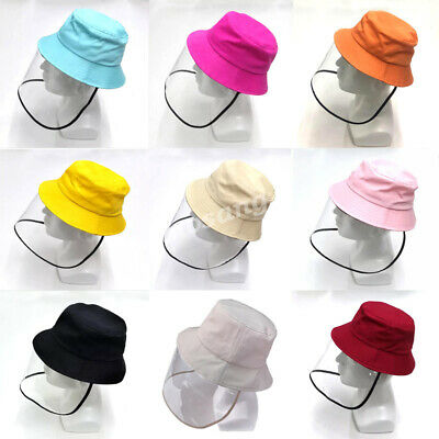 Men Women Boys Girls Full Face Covering Protective Cap Hat Shield Anti Visor