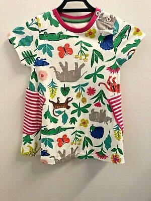 Ex Mini Boden Kids Girls Animal Themed Tunic Dress Age 11 - 12 Years (OR)