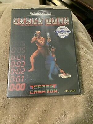 Sega Genesis Game Crackdown Crack Down Brand New Factory Sealed See Pictures