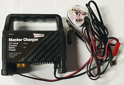 12v 4Amp Car Motorbike Motorhome Marine Lawnmower Battery Charger Streetwize New