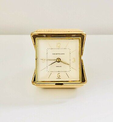 Vintage Westclox pocket travel clockPre owned good condition (showing signs of