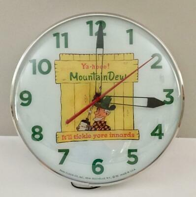 Pam Style Lighted Advertising Mountain Dew Clock
