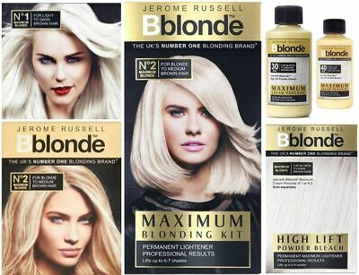 Jerome Russell Bblonde Maximum Blonding Highlighting Permanent Colour Toning