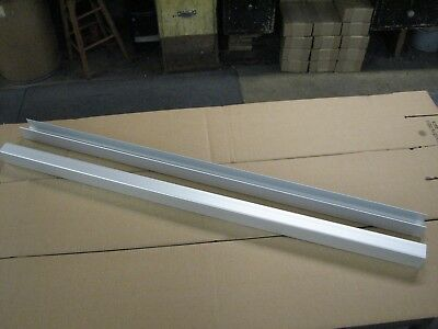 Horse stall wall or grill channels 4ft long, Aluminum 8 pieces