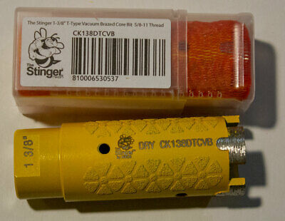 "Stinger Nikon 1 3/8"" Dry Core Bit - For Stone, Granite, Quartzite and Quartz"