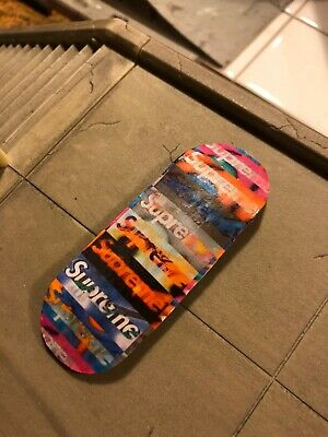 LC BOARDS Fingerboard 98x34 Supreme Graphic Countersinked Holes New Grip Tape