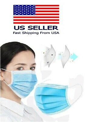 50 pcs 3-Ply Blue Face Mask Earloop Surgical Indstrial AUTHORIZED SELLER-