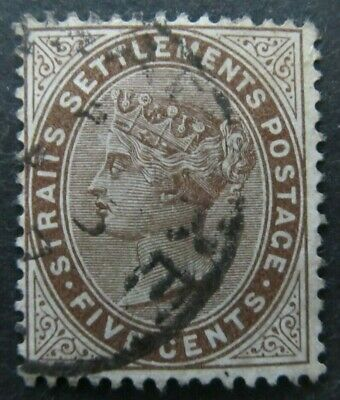 Malaysia Straits Settlements 1894 5c Brown SG. 99 Fine Used 12025