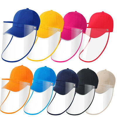 Full Face Covering Shield Protective Baseball Cap Windproof Hat Anti Saliva